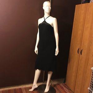 Jones New York Dress Sz 12 Linen  Party Black